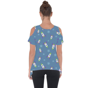 Cold Shoulder Tunic Top - Buzz Lightyear Space Ships