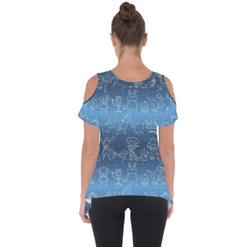Cold Shoulder Tunic Top - Toy Story Line Drawings