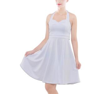 Halter Vintage Style Midi Dress
