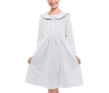 Girls Long Sleeve Midi Sailor Dress