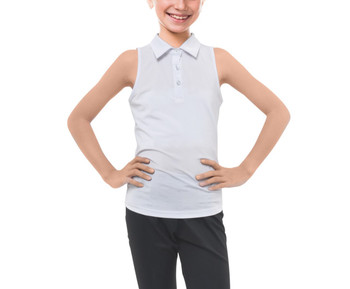 Kids' Sleeveless Polo Shirt