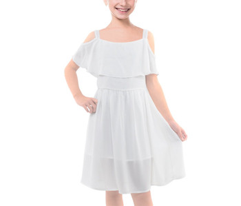 Girls Layered Chiffon Dress