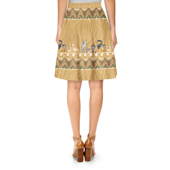 A-Line Skirt - Lion King Friends Tribal Inspired