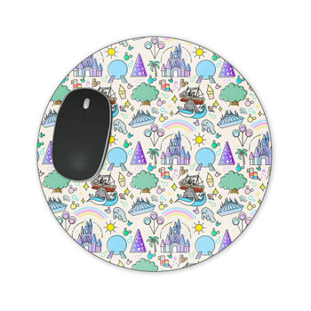 Mousepad - Walt Disney World Park Icons Light
