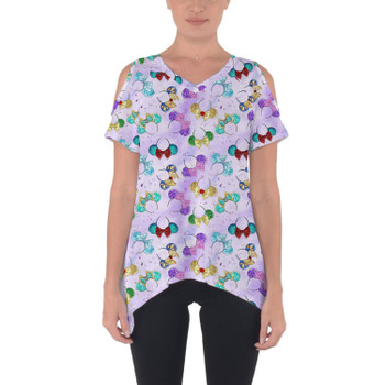 Cold Shoulder Tunic Top - Princess Minnie Ears