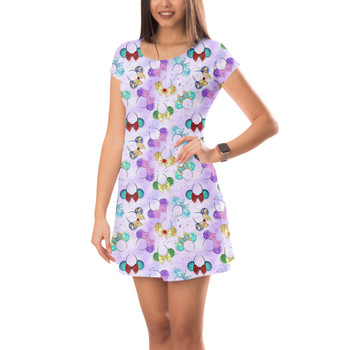 Short Sleeve Dress - Princess Minnie Ears