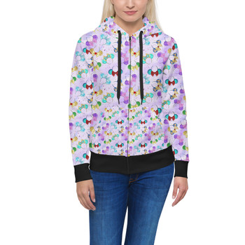 Women's Zip Up Hoodie - Princess Minnie Ears