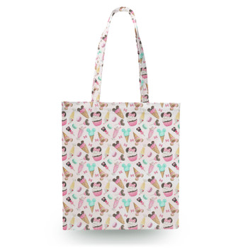 Canvas Tote Bag - Mouse Ears Snacks in Pastel Watercolor
