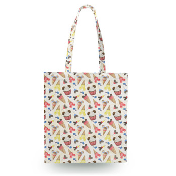 Canvas Tote Bag - Mouse Ears Snacks in Primary Color Watercolor