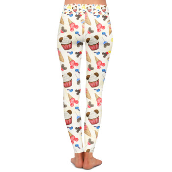 Yoga Leggings - Mouse Ears Snacks in Primary Color Watercolor