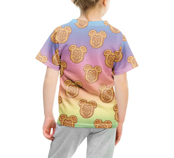 Youth Cotton Blend T-Shirt - Mickey Waffles Rainbow