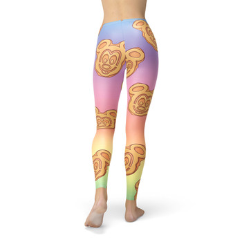 Winter Leggings - Mickey Waffles Rainbow