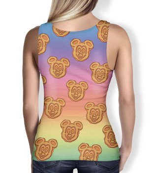 Women's Tank Top - Mickey Waffles Rainbow