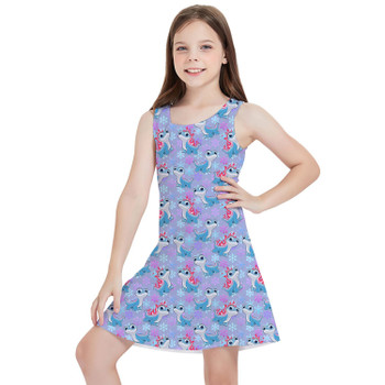 Girls Sleeveless Dress - Bruni the Fire Spirit