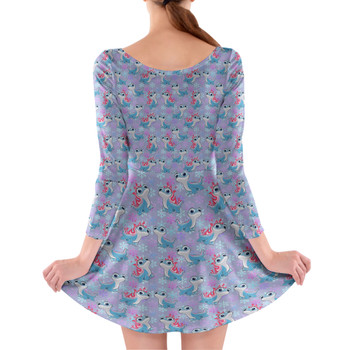 Longsleeve Skater Dress - Bruni the Fire Spirit
