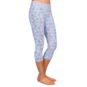 Yoga Capri Leggings - Bruni the Fire Spirit
