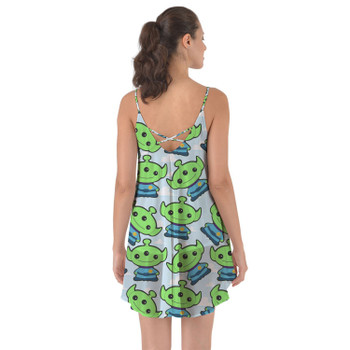 Beach Cover Up Dress - Little Green Aliens Toy Story Inspired