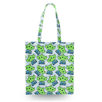 Canvas Tote Bag - Little Green Aliens Toy Story Inspired