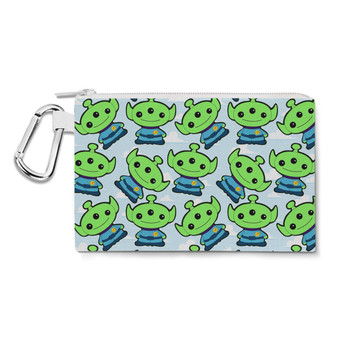 Canvas Zip Pouch - Little Green Aliens Toy Story Inspired