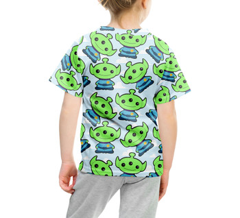 Youth Cotton Blend T-Shirt - Little Green Aliens Toy Story Inspired