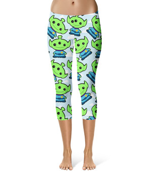 Sport Capri Leggings - Little Green Aliens Toy Story Inspired