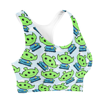 Sports Bra - Little Green Aliens Toy Story Inspired