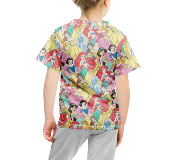 Youth Cotton Blend T-Shirt - Princess Sketches