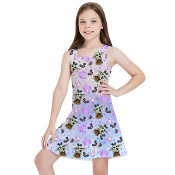 Girls Sleeveless Dress - The Asset Goes To Disney SW Inspired Watercolor