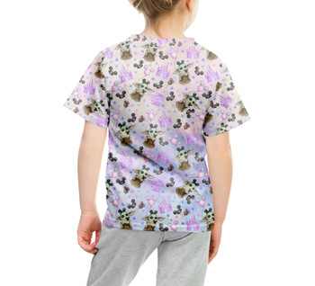 Youth Cotton Blend T-Shirt - The Asset Goes To Disney SW Inspired Watercolor