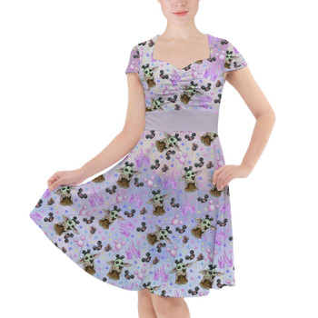 Sweetheart Midi Dress - The Asset Goes To Disney SW Inspired Watercolor
