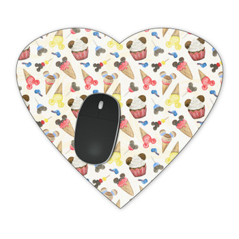 Mousepad - Mouse Ears Snacks in Primary Color Watercolor