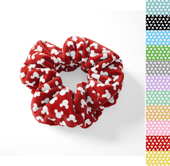 Velvet Scrunchie - Mouse Ears Polka Dots