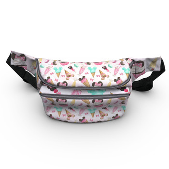 Fanny Pack - Mouse Ears Snacks in Pastel Watercolor