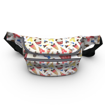 Fanny Pack - Mouse Ears Snacks in Primary Color Watercolor