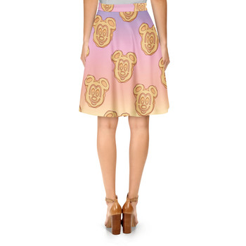 A-Line Skirt - Mickey Waffles Rainbow
