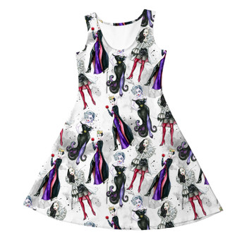 Girls Sleeveless Dress - Bad Girls Villains Inspired