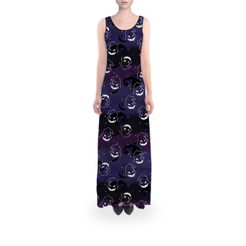 Flared Maxi Dress - Oogie Boogie Halloween Inspired
