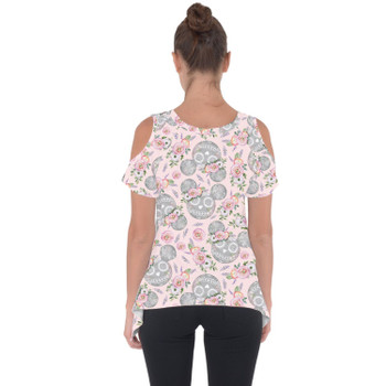 Cold Shoulder Tunic Top - Minnie Sugar Skulls Mouse Ears