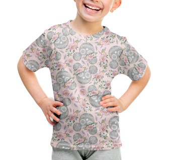 Youth Cotton Blend T-Shirt - Minnie Sugar Skulls Mouse Ears