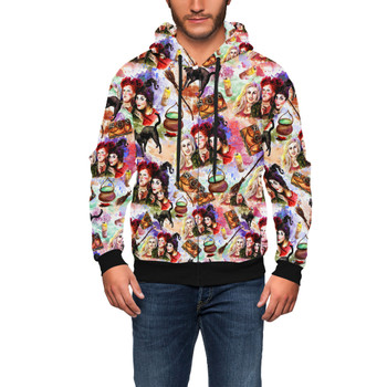 Men's Zip Up Hoodie - Hocus Pocus Halloween Inspired