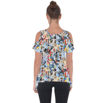 Cold Shoulder Tunic Top - Welcome to Halloweentown