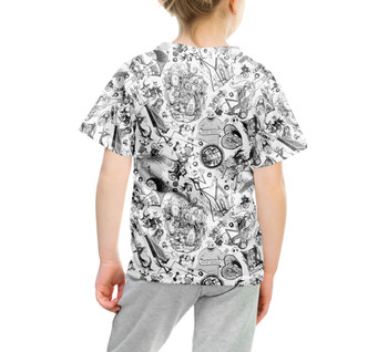 Youth Cotton Blend T-Shirt - Nightmare Sketches Halloween Inspired
