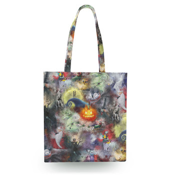 Canvas Tote Bag - Watercolor Nightmare Before Christmas