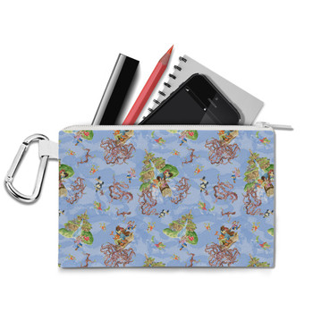 Canvas Zip Pouch - Briar Patch Splash