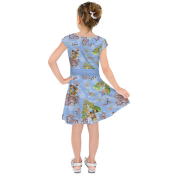 Girls Short Sleeve Skater Dress - Briar Patch Splash