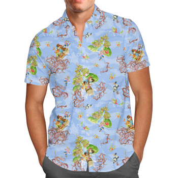 Men's Button Down Short Sleeve Shirt - Briar Patch Splash