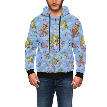 Men's Zip Up Hoodie - Briar Patch Splash