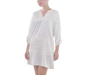 V-Neck Shift Dress