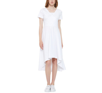 High Low Short Sleeve Dress