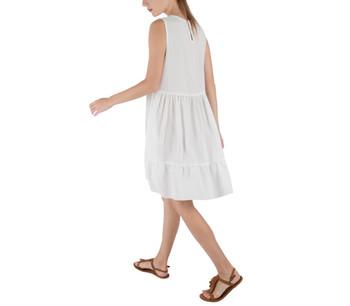 Frill Mini Swing Dress